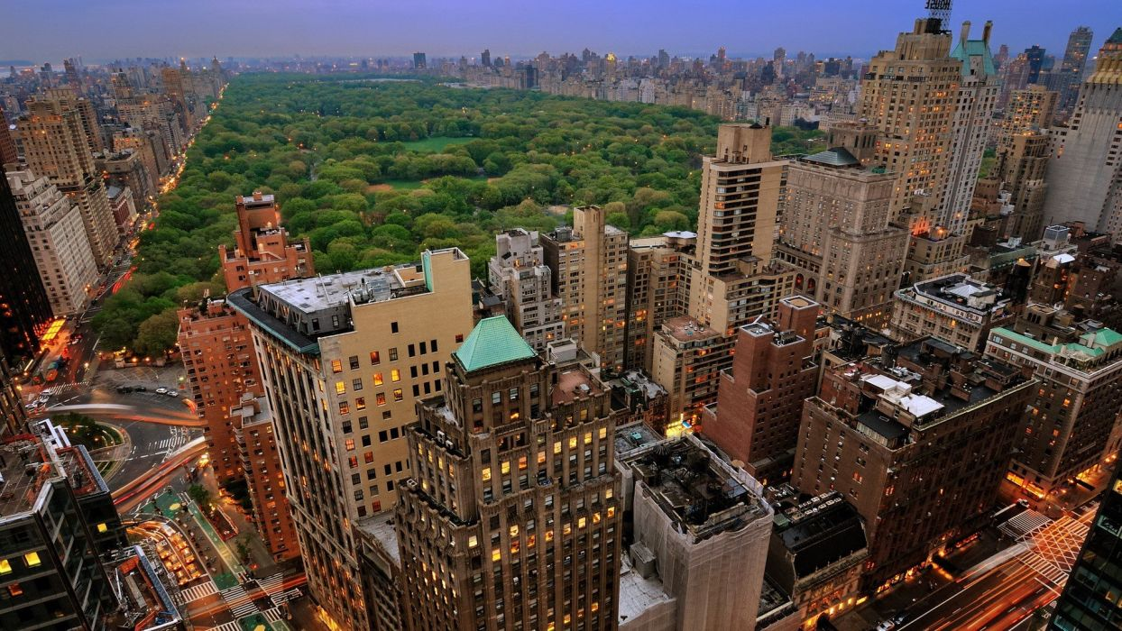 landscapes cityscapes architecture New York City Manhattan skyscrapers Central Park wallpaper