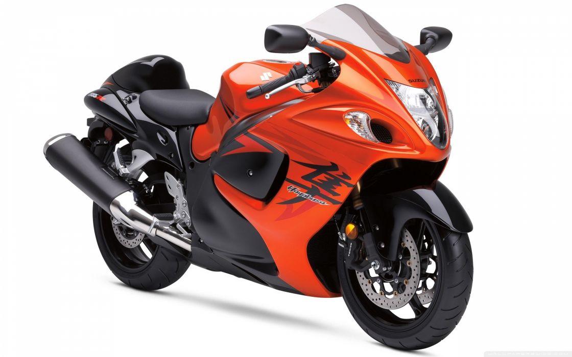 orange Suzuki motorbikes Suzuki Hayabusa wallpaper