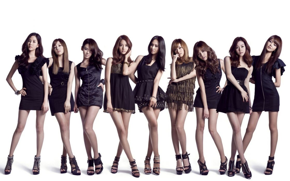 women Girls Generation SNSD celebrity simple background wallpaper