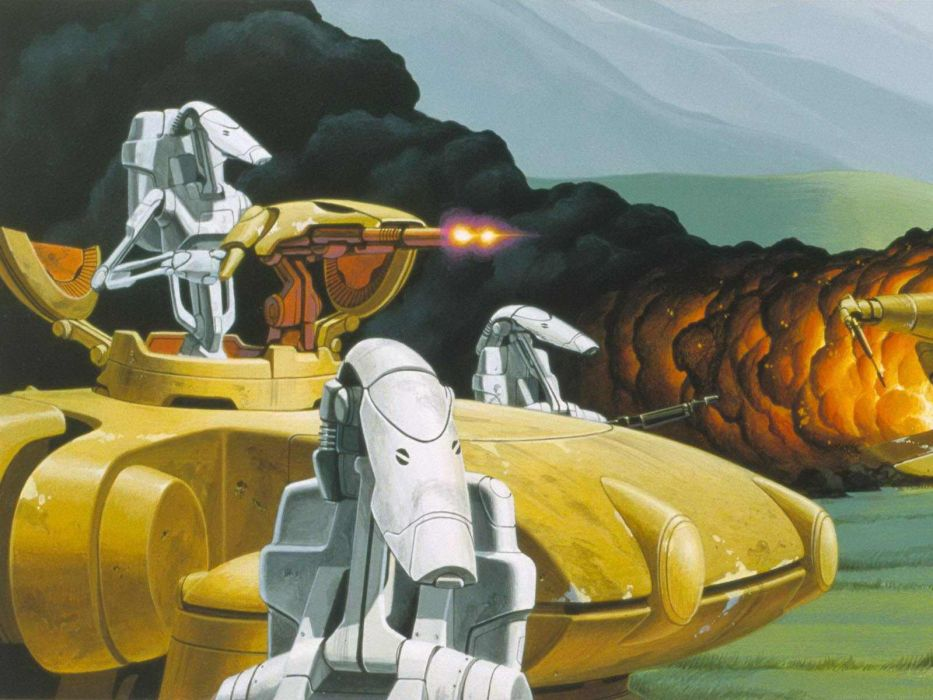 Star Wars movies tanks Federation wallpaper