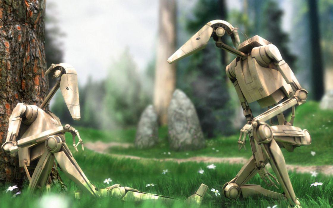 Star Wars Droid battles b1 battle droids wallpaper