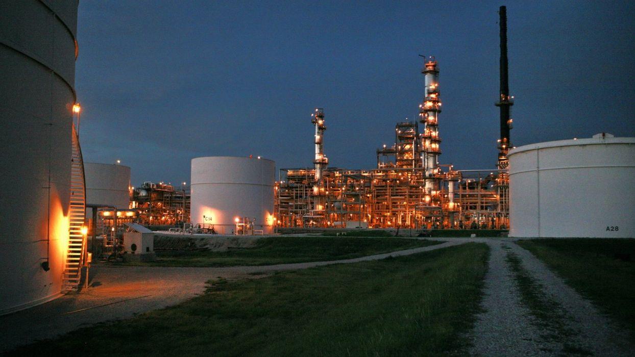industrial plants refinery wallpaper