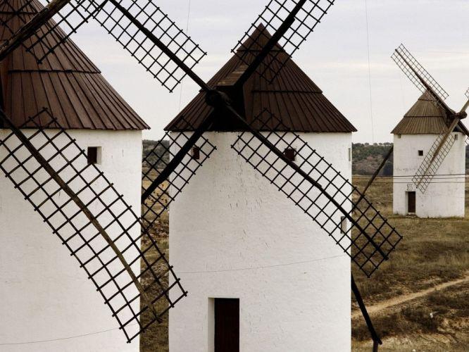 Spain windmills wallpaper