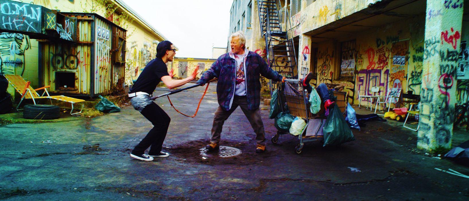 HOBO WITH A SHOTGUN action comedy thriller dark blood wallpaper