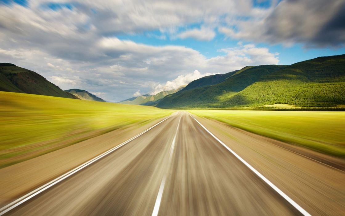 landscapes nature roads wallpaper