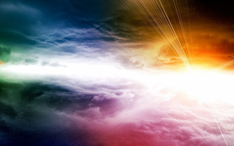 light abstract clouds colors wallpaper