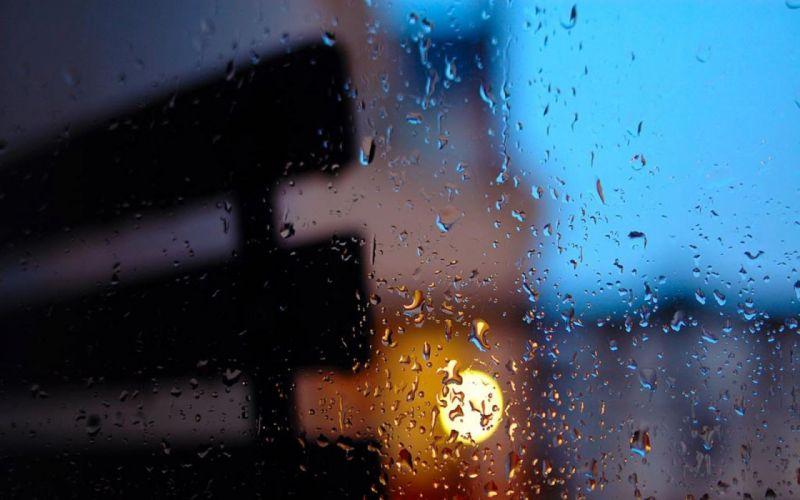 rain bokeh water drops wallpaper