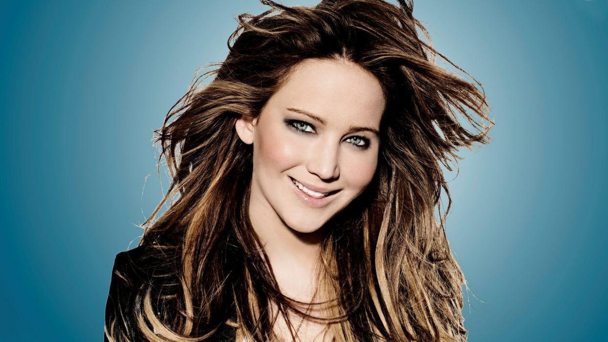 women Jennifer Lawrence faces wallpaper