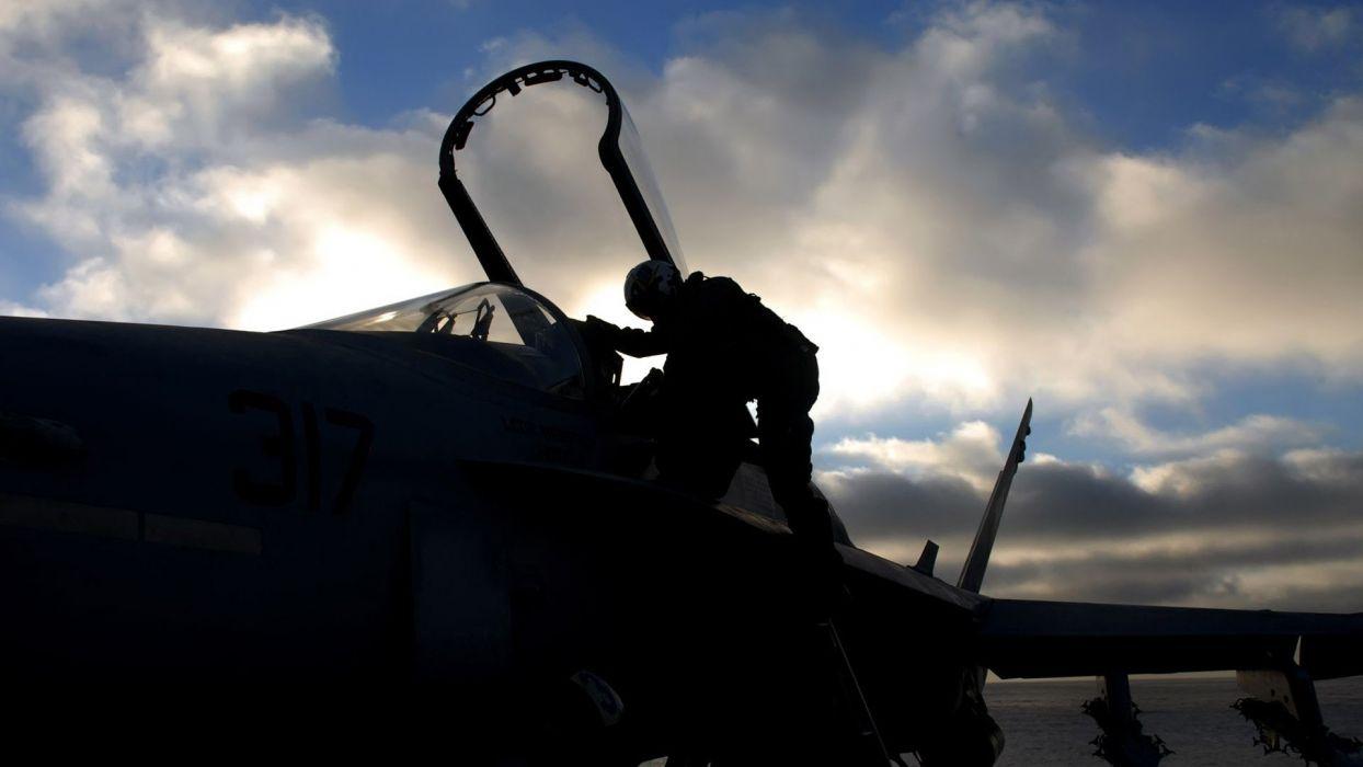 aircraft FA-18 Hornet wallpaper