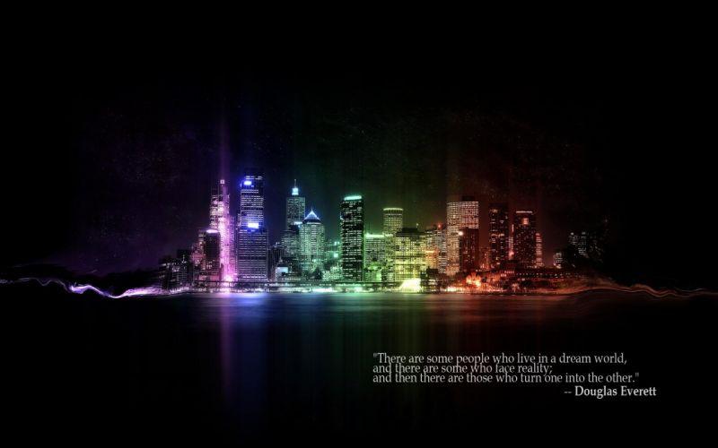 cityscapes quotes buildings rainbows Sydney Australia Douglas Everett wallpaper