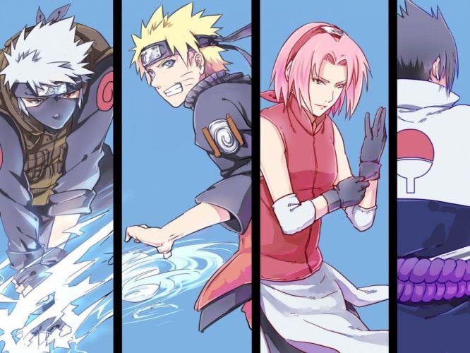 Haruno Sakura Uchiha Sasuke Naruto: Shippuden Uzumaki Naruto Kakashi Hatake team 7 wallpaper