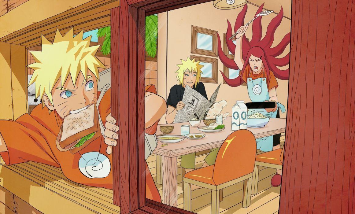 Naruto: Shippuden Minato Namikaze breakfast Uzumaki Kushina Uzumaki Naruto fan art wallpaper