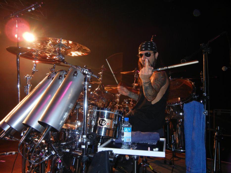 ADRENALINE MOB heavy metal rock concert drums sadic finger      g wallpaper