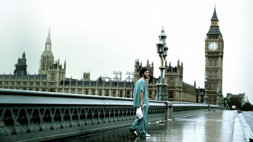 28 DAYS LATER horror sci-fi thriller dark zombie apocalyptic london wallpaper