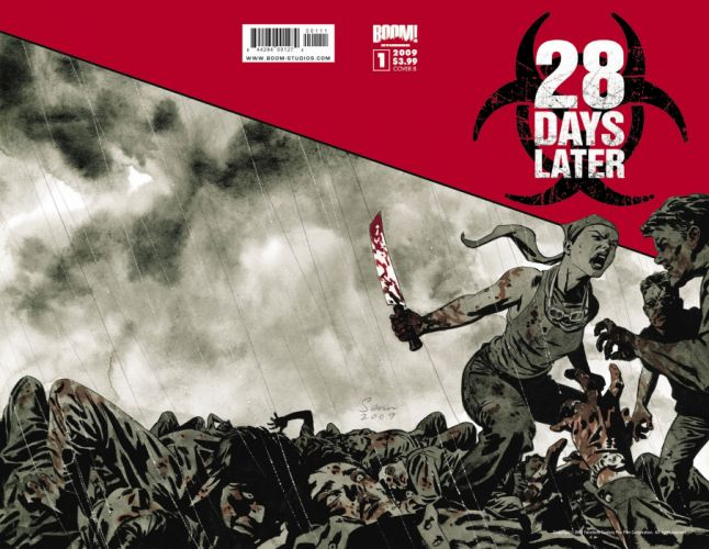 28 DAYS LATER horror sci-fi thriller dark zombie apocalyptic wallpaper