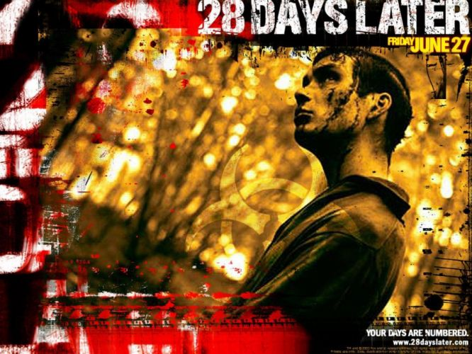28 DAYS LATER horror sci-fi thriller dark zombie apocalyptic poster wallpaper