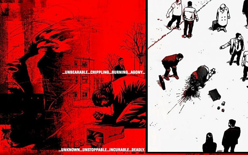 28 DAYS LATER horror sci-fi thriller dark zombie apocalyptic blood poster wallpaper