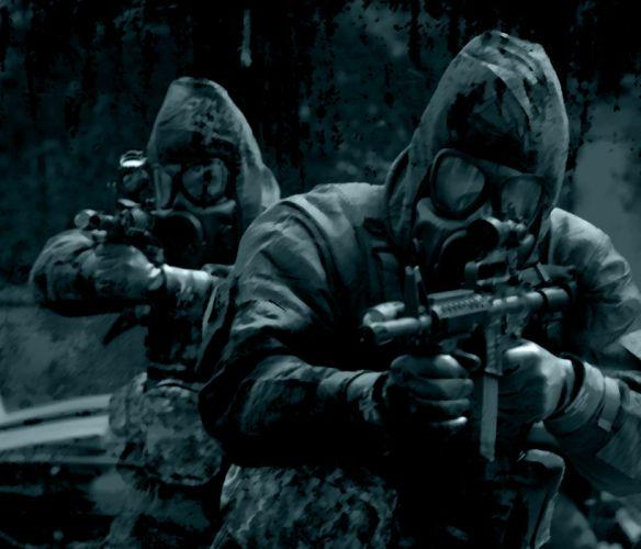28 DAYS LATER horror sci-fi thriller dark zombie apocalyptic soldier military weapon gun dark wallpaper