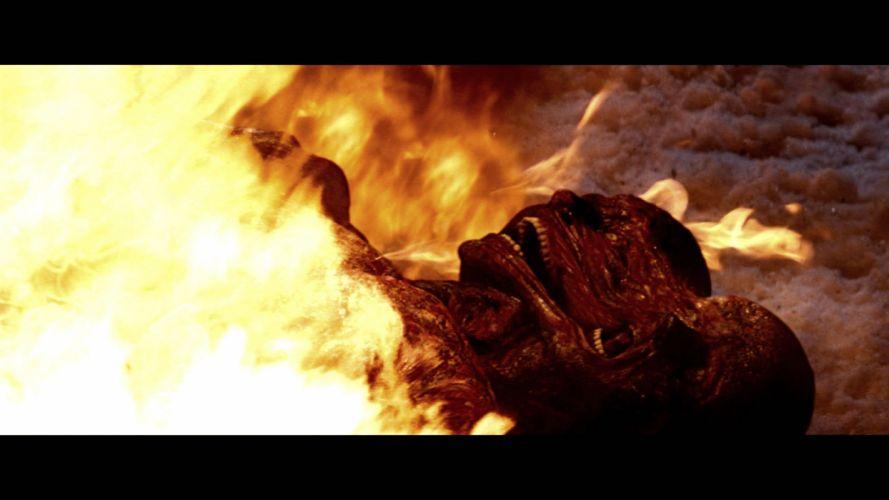 THE THING horror mystery thriller sci-fi dark monster alien fire skull j wallpaper