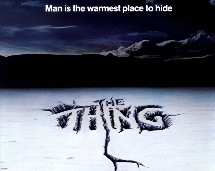 THE THING horror mystery thriller sci-fi poster    gd wallpaper