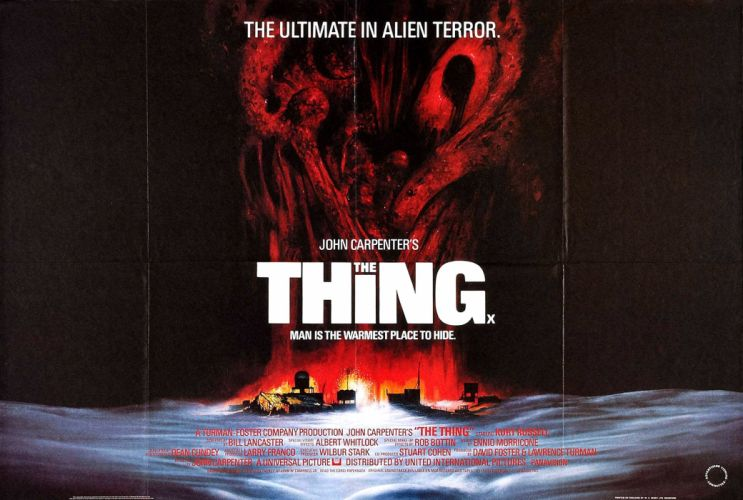 THE THING horror mystery thriller sci-fi poster jf wallpaper