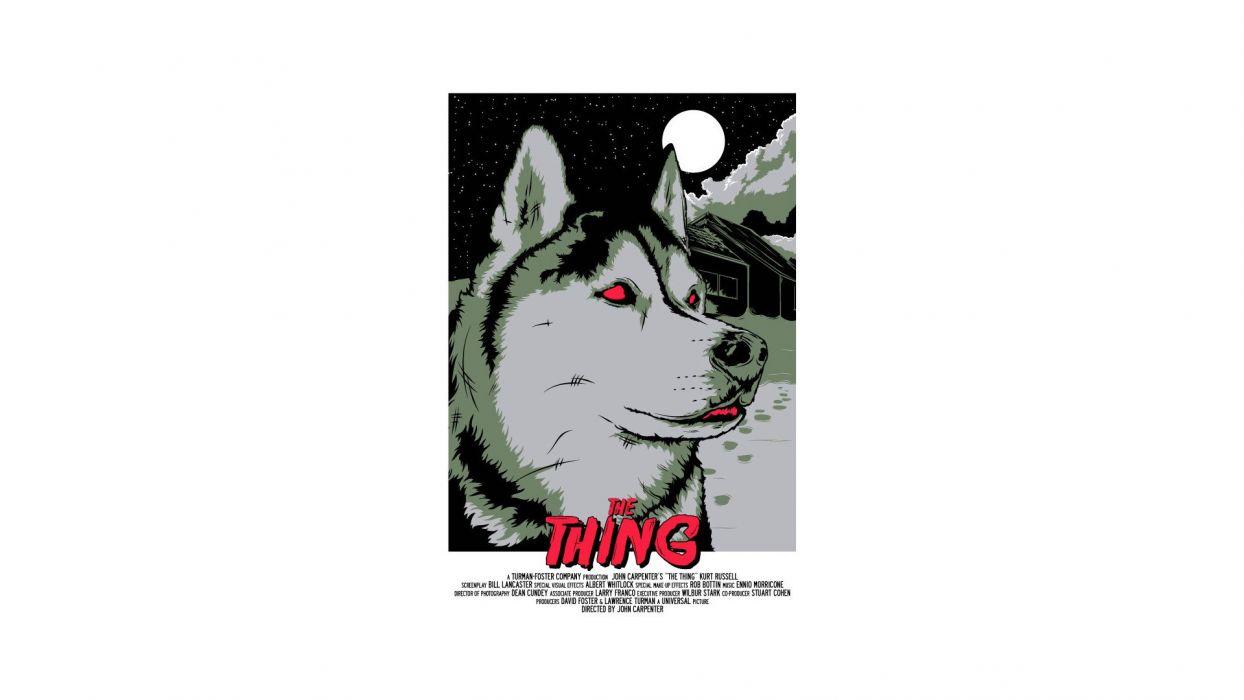 THE THING horror mystery thriller sci-fi poster   k wallpaper