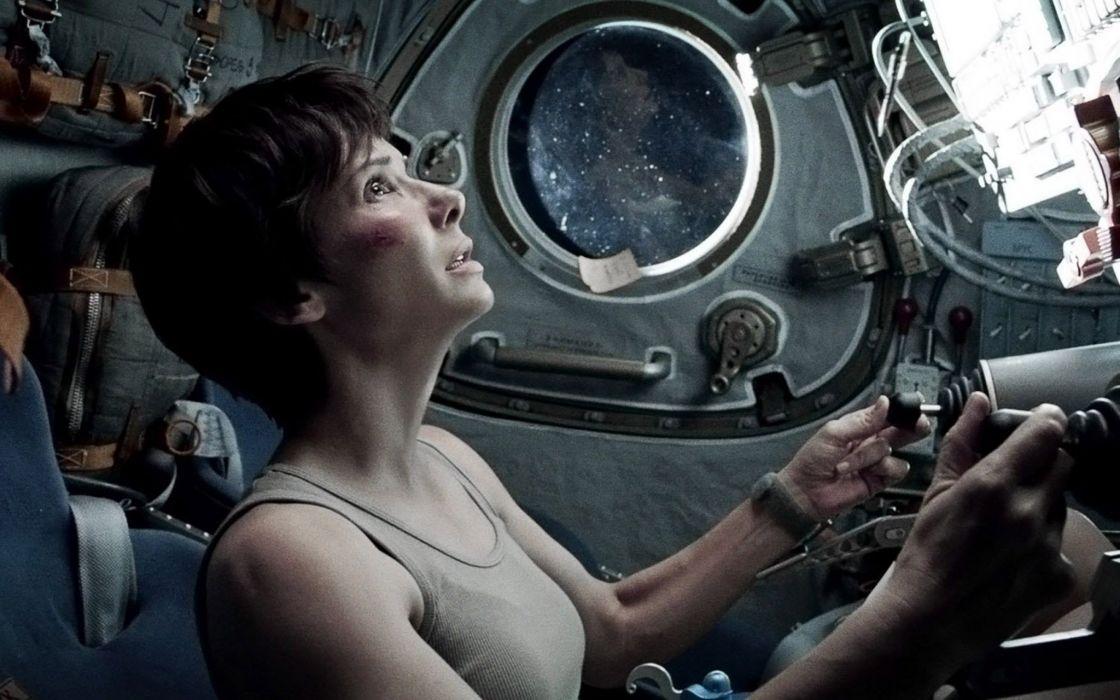 GRAVITY drama sci-fi thriller space astronaut    hf wallpaper