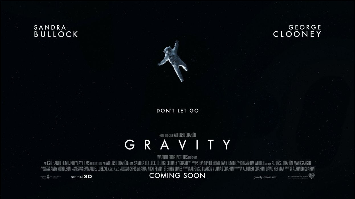 GRAVITY drama sci-fi thriller space astronaut poster  vb wallpaper