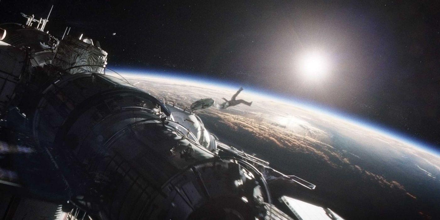 GRAVITY drama sci-fi thriller space astronaut spaceship       f wallpaper
