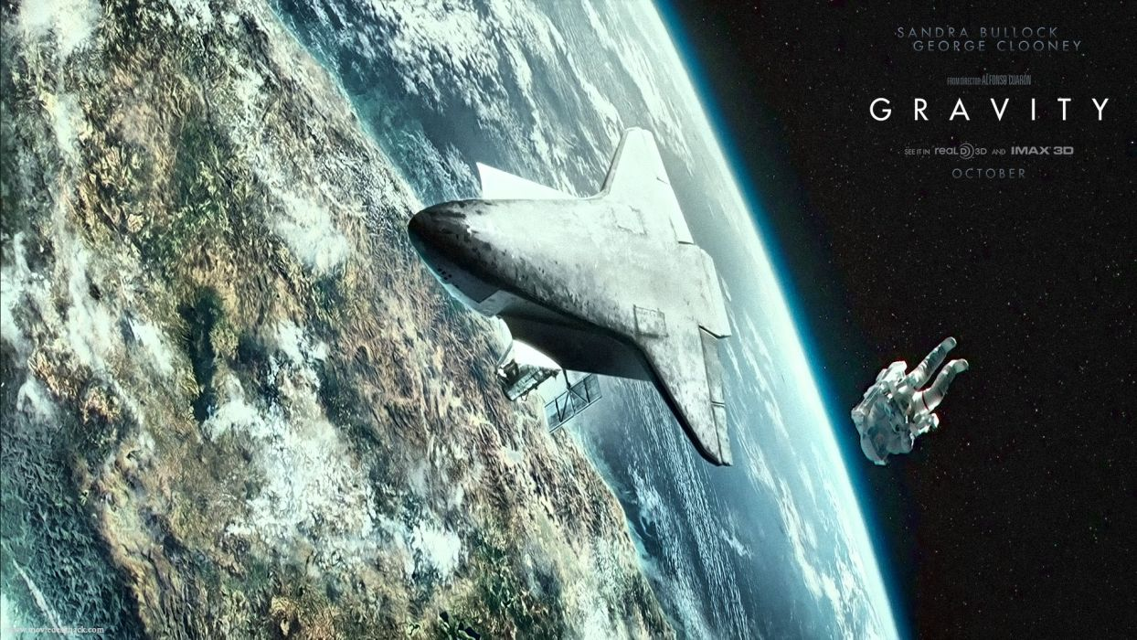 GRAVITY drama sci-fi thriller space astronaut spaceship planet      f wallpaper