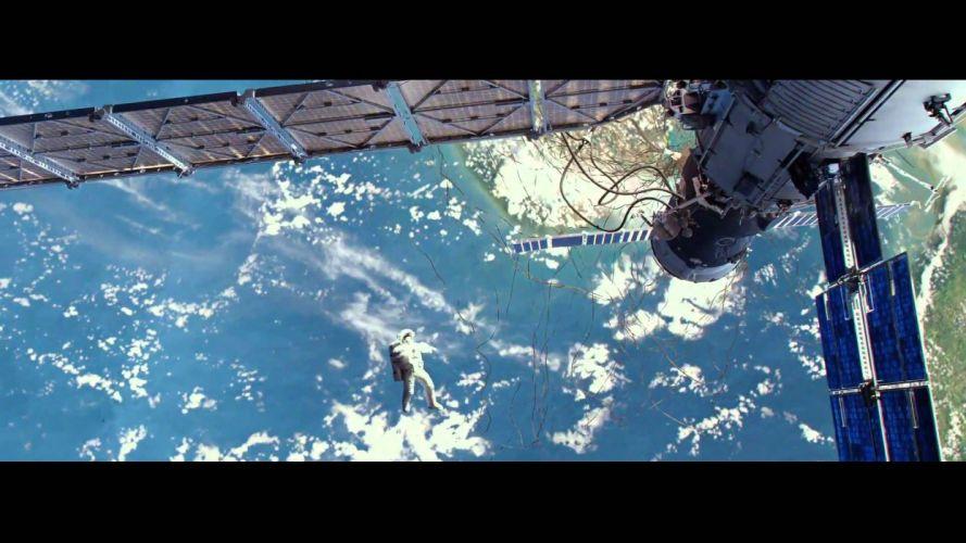 GRAVITY drama sci-fi thriller space astronaut spaceship planet hb wallpaper