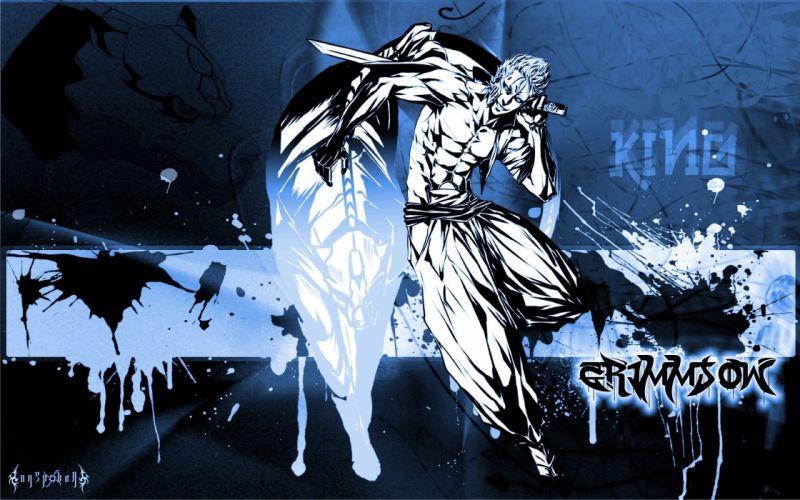 Bleach Espada anime Grimmjow Jaegerjaquez Pantera paint splatter wallpaper