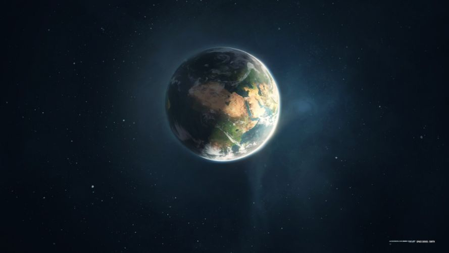 outer space planets Earth digital art artwork series space lacza wallpaper