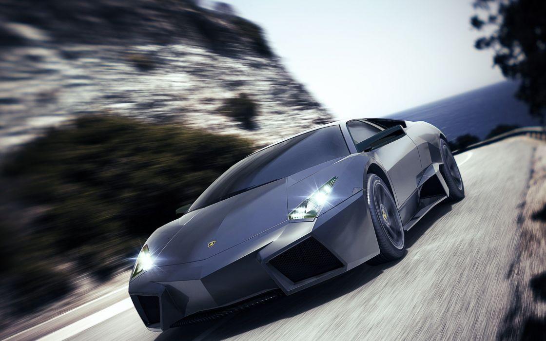 cars sports gray Lamborghini supercars Lamborghini Reventon wallpaper