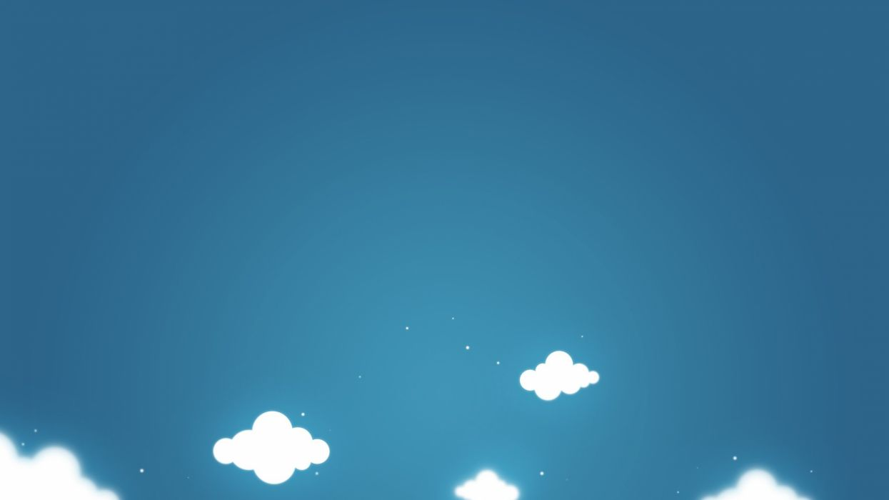 abstract blue clouds minimalistic wallpaper