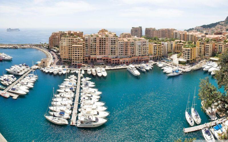 landscapes cityscapes Monaco European harbours wallpaper