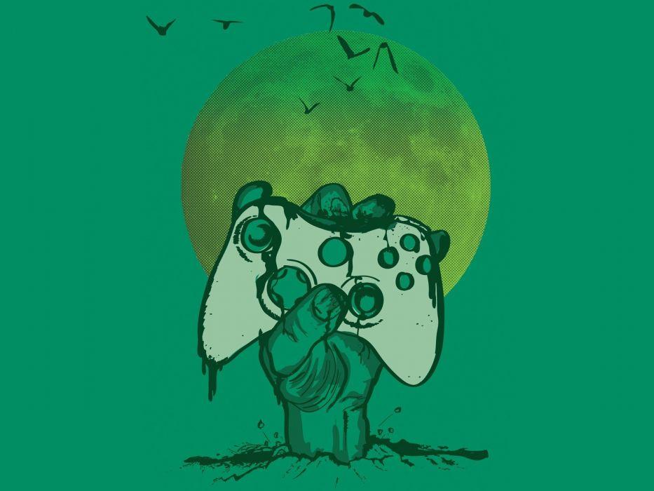 undead birds zombies Moon Xbox artwork controllers wallpaper