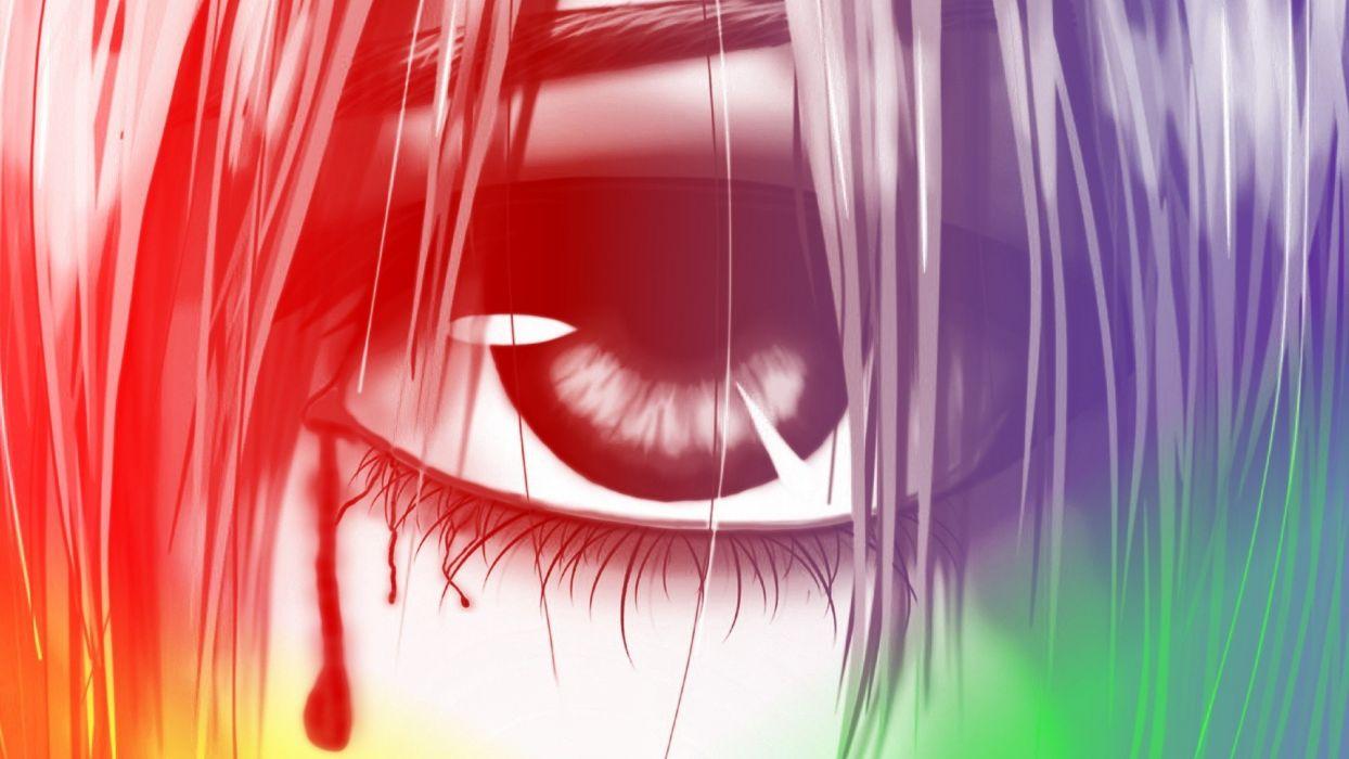 eyes Elfen Lied Lucy (Elfen Lied) digital art anime manga wallpaper