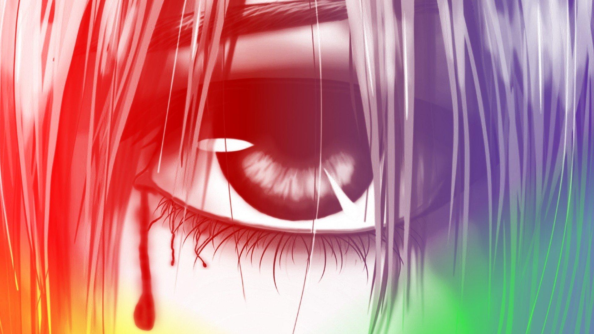 eyes elfen lied lucy elfen lied digital art anime manga