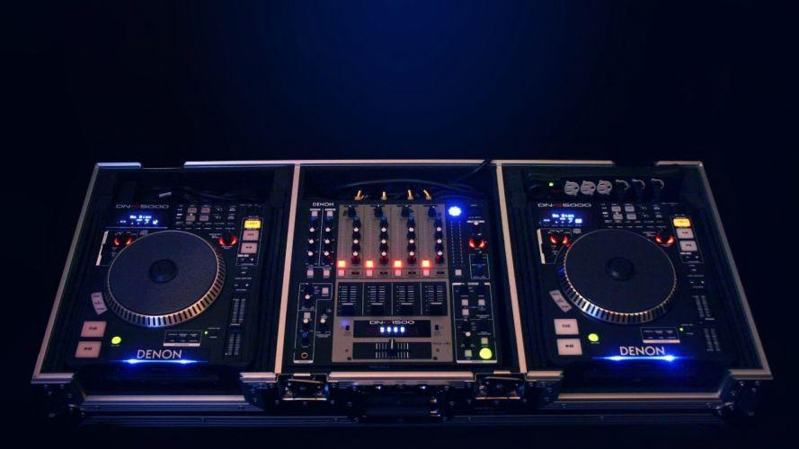 mixing tables DJ denon wallpaper