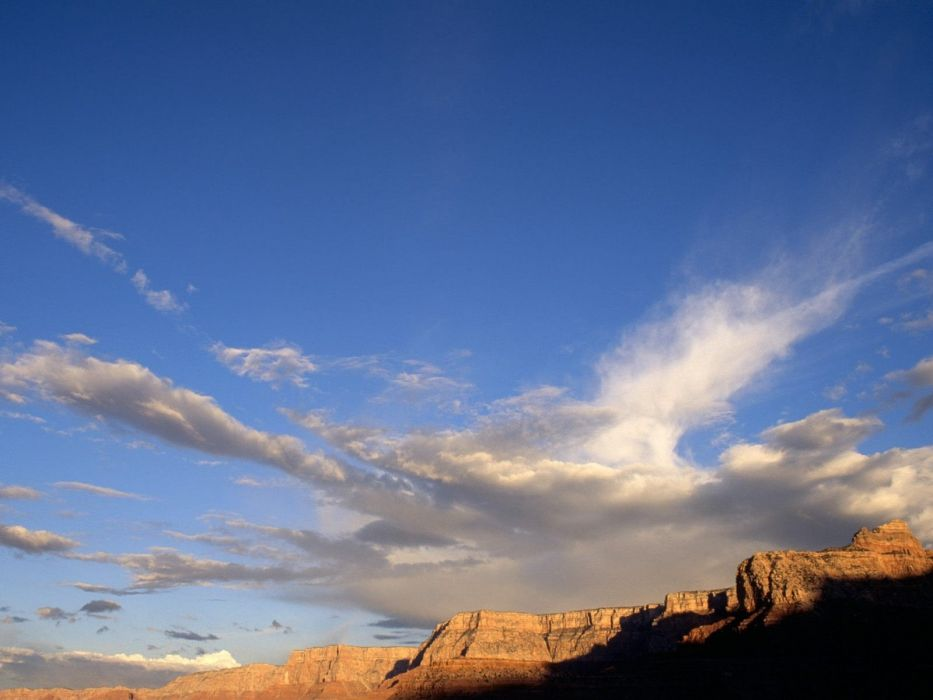 clouds nature canyon Arizona Grand Canyon wallpaper
