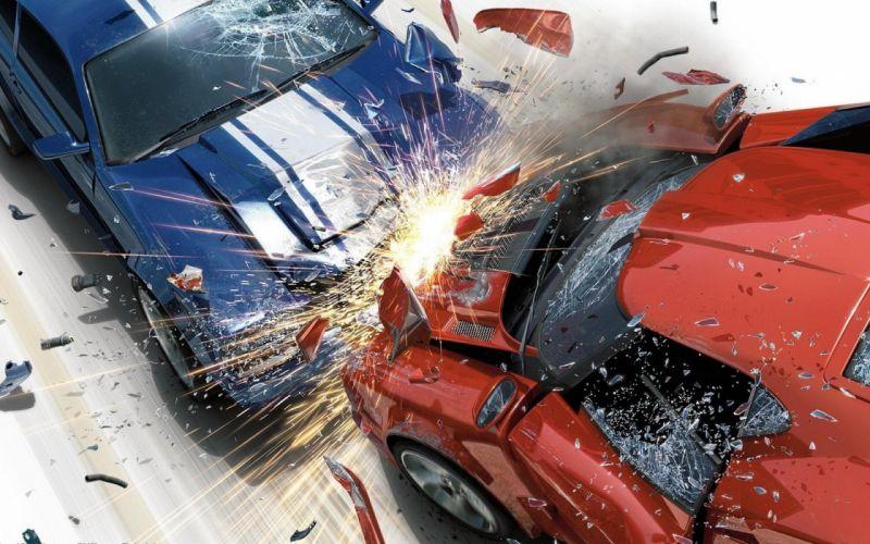 video games cars crash Burnout Revenge games wallpaper