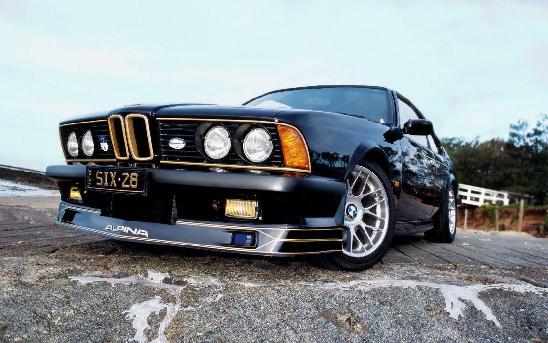 BMW cars asphalt reflections Alpina low-angle shot wallpaper