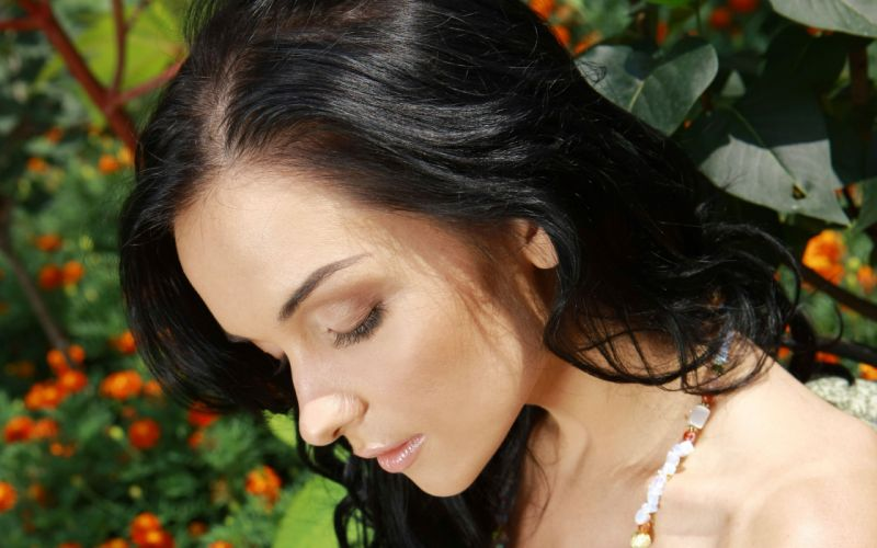 brunettes women close-up Katie Fey faces Ukrainian wallpaper