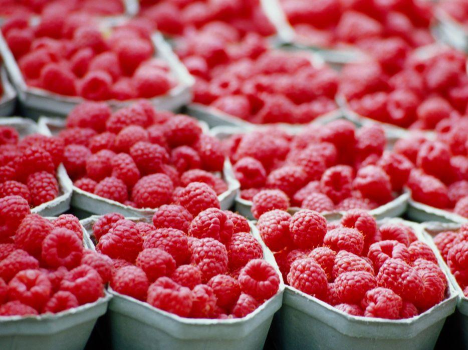macro raspberries wallpaper