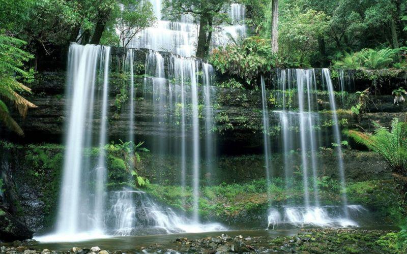 landscapes nature falls tasmania National Park Mount wallpaper