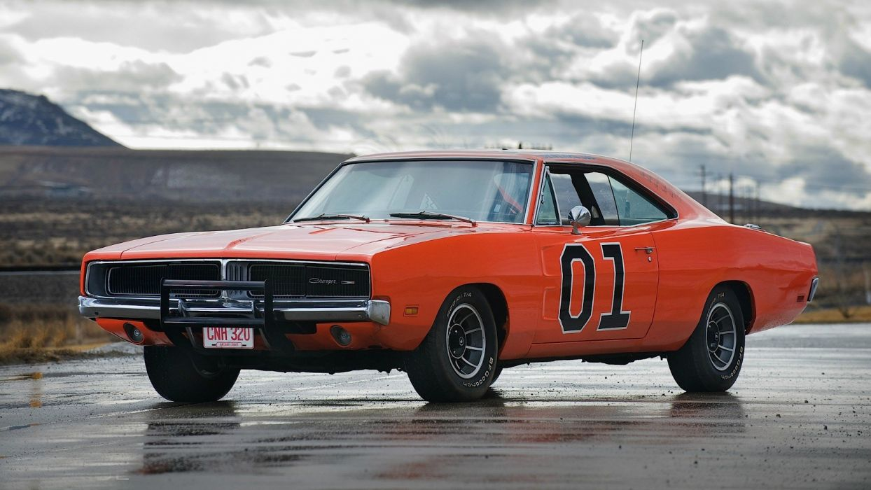 cars General Lee Dodge Charger RT wallpaper