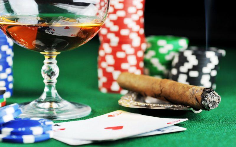 poker poker chips Casino cigars wallpaper