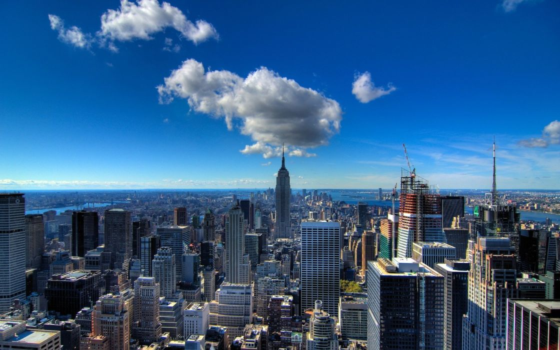 cityscapes architecture buildings New York City wallpaper