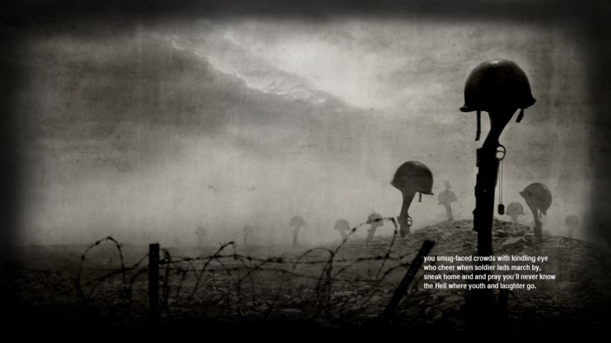 war guns quotes helmets poetry Siegfried Sassoon wallpaper